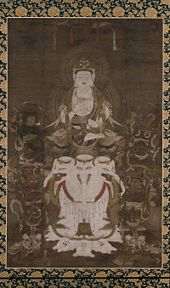Samantabhadra, pictured in Bodhisattva of Universal Virtue who Prolongs Life, 12th century painting on silk, late Heian period.